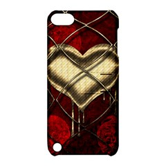 Love Hearth Background Scrapbooking Paper Apple Ipod Touch 5 Hardshell Case With Stand