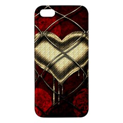 Love Hearth Background Scrapbooking Paper Apple Iphone 5 Premium Hardshell Case