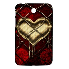 Love Hearth Background Scrapbooking Paper Samsung Galaxy Tab 3 (7 ) P3200 Hardshell Case