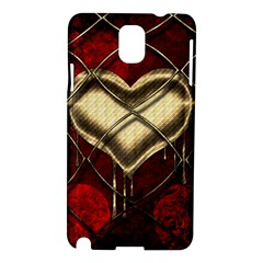 Love Hearth Background Scrapbooking Paper Samsung Galaxy Note 3 N9005 Hardshell Case