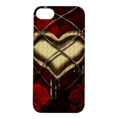 Love Hearth Background Scrapbooking Paper Apple Iphone 5s/ Se Hardshell Case