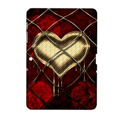 Love Hearth Background Scrapbooking Paper Samsung Galaxy Tab 2 (10 1 ) P5100 Hardshell Case