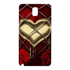Love Hearth Background Scrapbooking Paper Samsung Galaxy Note 3 N9005 Hardshell Back Case