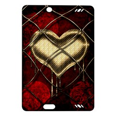 Love Hearth Background Scrapbooking Paper Amazon Kindle Fire Hd (2013) Hardshell Case