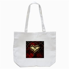Love Hearth Background Scrapbooking Paper Tote Bag (white)