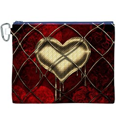Love Hearth Background Scrapbooking Paper Canvas Cosmetic Bag (xxxl)