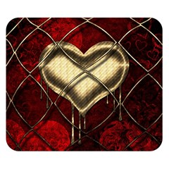 Love Hearth Background Scrapbooking Paper Double Sided Flano Blanket (small)