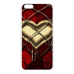 Love Hearth Background Scrapbooking Paper Apple Seamless iPhone 6 Plus/6S Plus Case (Transparent)