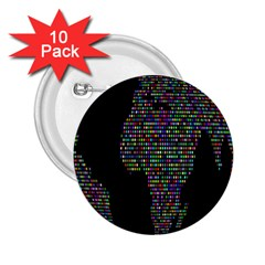 World Earth Planet Globe Map 2.25  Buttons (10 pack)