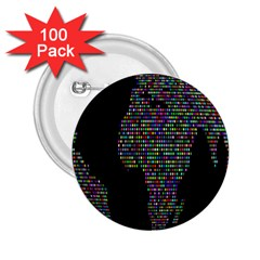 World Earth Planet Globe Map 2 25  Buttons (100 Pack)