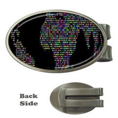 World Earth Planet Globe Map Money Clips (Oval)