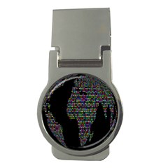 World Earth Planet Globe Map Money Clips (round)