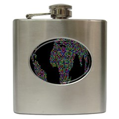 World Earth Planet Globe Map Hip Flask (6 Oz)