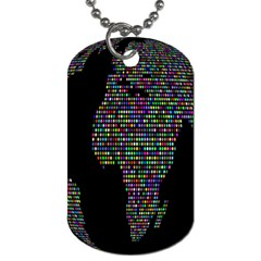 World Earth Planet Globe Map Dog Tag (Two Sides)
