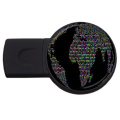 World Earth Planet Globe Map USB Flash Drive Round (2 GB)