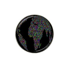 World Earth Planet Globe Map Hat Clip Ball Marker (4 Pack)