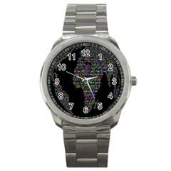World Earth Planet Globe Map Sport Metal Watch