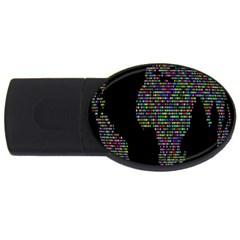 World Earth Planet Globe Map Usb Flash Drive Oval (4 Gb)