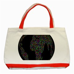World Earth Planet Globe Map Classic Tote Bag (red)