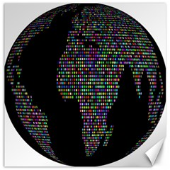 World Earth Planet Globe Map Canvas 16  X 16