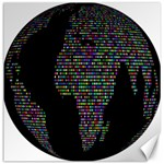 World Earth Planet Globe Map Canvas 16  x 16   16 x16 Canvas - 1