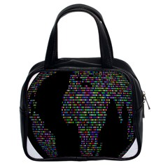 World Earth Planet Globe Map Classic Handbags (2 Sides)