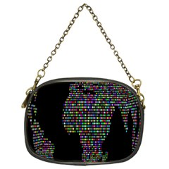 World Earth Planet Globe Map Chain Purses (one Side)