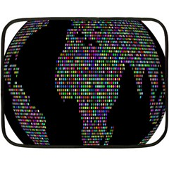 World Earth Planet Globe Map Fleece Blanket (mini)