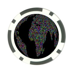 World Earth Planet Globe Map Poker Chip Card Guard (10 Pack)
