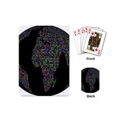 World Earth Planet Globe Map Playing Cards (mini)