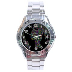 World Earth Planet Globe Map Stainless Steel Analogue Watch