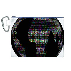World Earth Planet Globe Map Canvas Cosmetic Bag (XL)