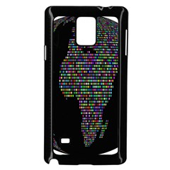 World Earth Planet Globe Map Samsung Galaxy Note 4 Case (black)