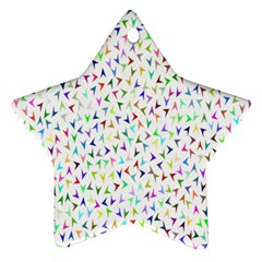 Pointer Direction Arrows Navigation Star Ornament (two Sides)