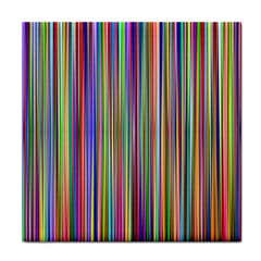 Striped Stripes Abstract Geometric Tile Coasters