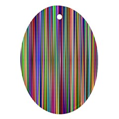Striped Stripes Abstract Geometric Ornament (oval)