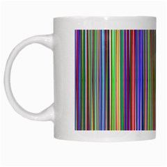 Striped Stripes Abstract Geometric White Mugs