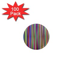 Striped Stripes Abstract Geometric 1  Mini Magnets (100 Pack)