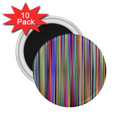 Striped Stripes Abstract Geometric 2.25  Magnets (10 pack)