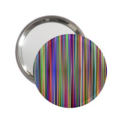 Striped Stripes Abstract Geometric 2 25  Handbag Mirrors
