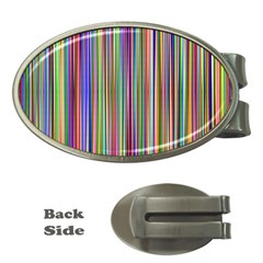 Striped Stripes Abstract Geometric Money Clips (Oval)