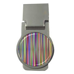 Striped Stripes Abstract Geometric Money Clips (round)