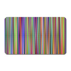 Striped Stripes Abstract Geometric Magnet (rectangular)