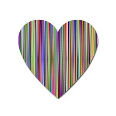 Striped Stripes Abstract Geometric Heart Magnet