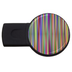 Striped Stripes Abstract Geometric Usb Flash Drive Round (2 Gb)