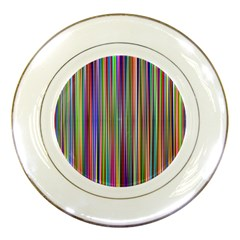Striped Stripes Abstract Geometric Porcelain Plates