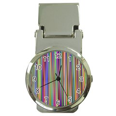 Striped Stripes Abstract Geometric Money Clip Watches