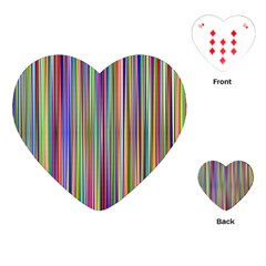 Striped Stripes Abstract Geometric Playing Cards (heart)