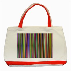Striped Stripes Abstract Geometric Classic Tote Bag (red)
