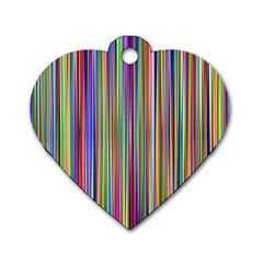 Striped Stripes Abstract Geometric Dog Tag Heart (two Sides)